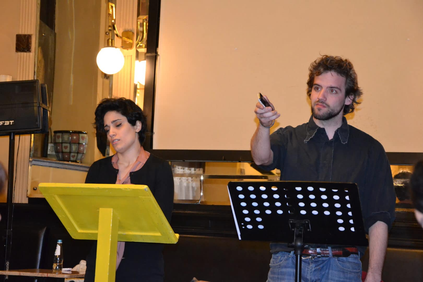 2013, March 23. Caffè San Marco: play of the Theatre winning dilaogues
